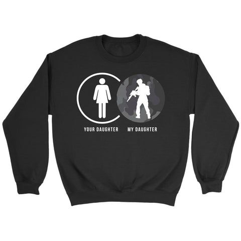 Your Daughter My Military Funny Awesome Quirky Women Soldier Gift Ideas Sweater-NeatFind.net