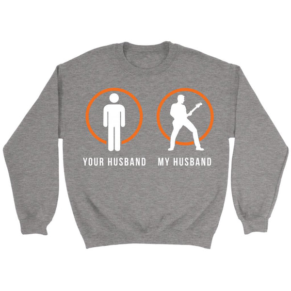 Your Normal Husband My Guitarist Husband Cool Funny Awesome Unique Guitarist Unisex Crewneck Sweatshirt For Women & Men-NeatFind.net