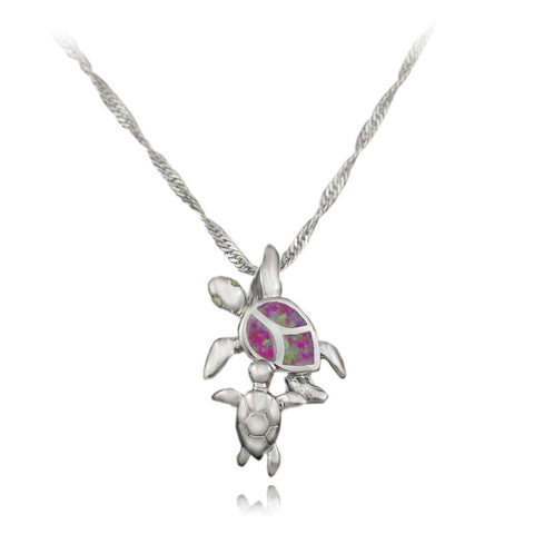 Collier 2 Tortues - Opal Rose