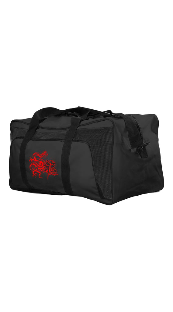 Duffel Bag: Black with Red Dragon
