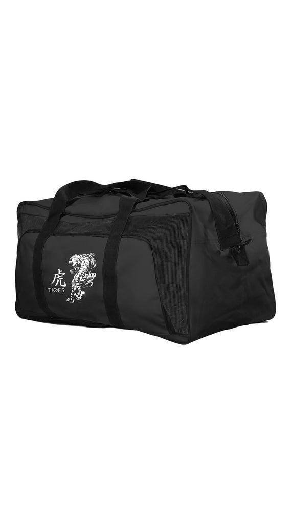 Duffel Bag: Black with White Tiger