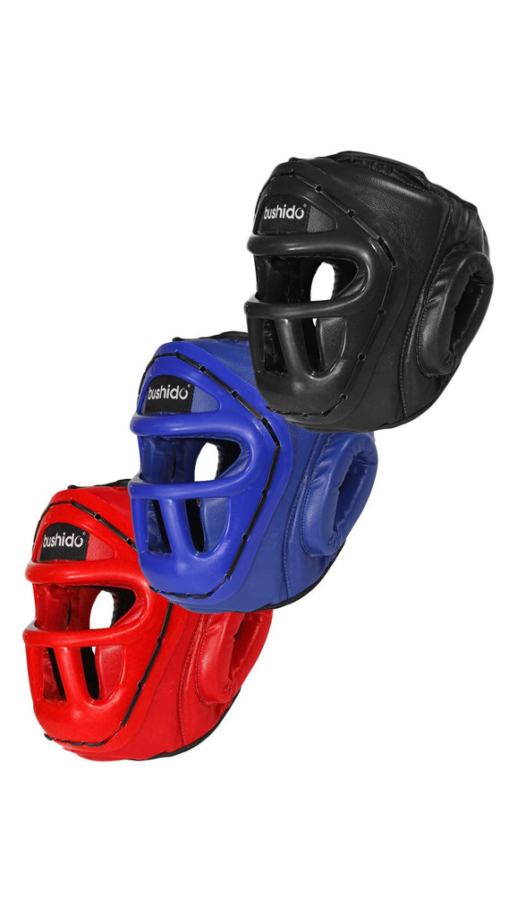 Headgear: Nondetachable Vinyl Sparring Caged Head Gear