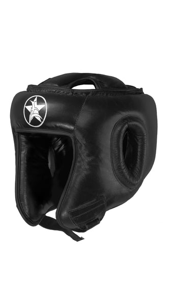 Leather Boxing Headgear with Strap