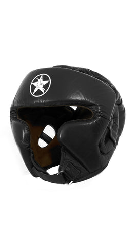 Leather/Suede Boxing Headgear with Strap