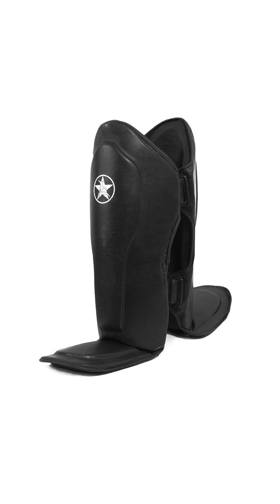 Shin Guard: Pro Leather Muay Thai Shin Instep Guard