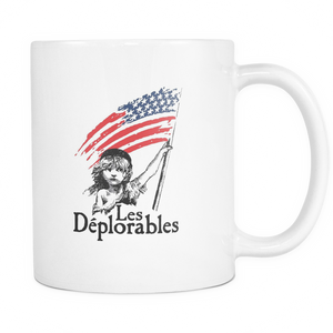 Les Deplorable Mug - The Boy Hold a Flag - Teemisa