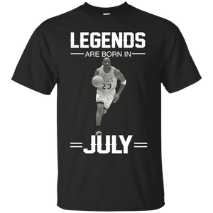Michael Jordan: Legends Are Born In July T-Shirts & Hoodies - Teemisa