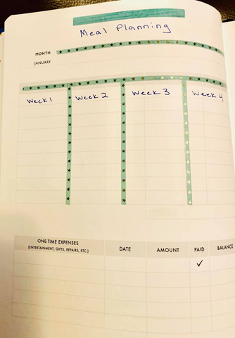 meal plan in Christian Planner