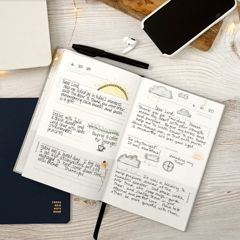 Our Daily Prayer Journal allows you to incorporate your prayer life with your gratitude journal because it includes an area where you can write down what you are grateful for daily.