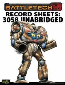Record Sheet: Total Warfare Style: 3058 IS
