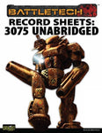 Record Sheet: Total Warfare Style: 3075 Unabridged