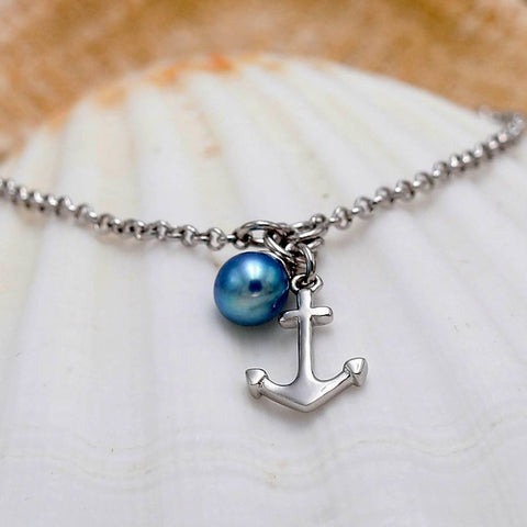 Anchor Strong Sterling Silver Adjustable Bracelet