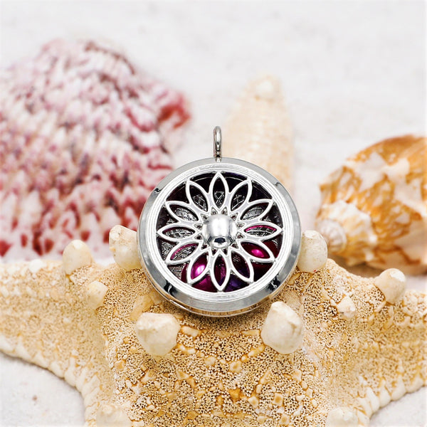 Unity Mandala Silver Plated Pearl & Gem Locket