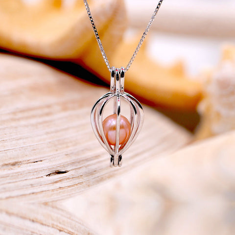 Falling Tears Sterling Silver Cage Pendant
