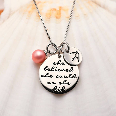 She Believed Sterling Silver Set Pendant
