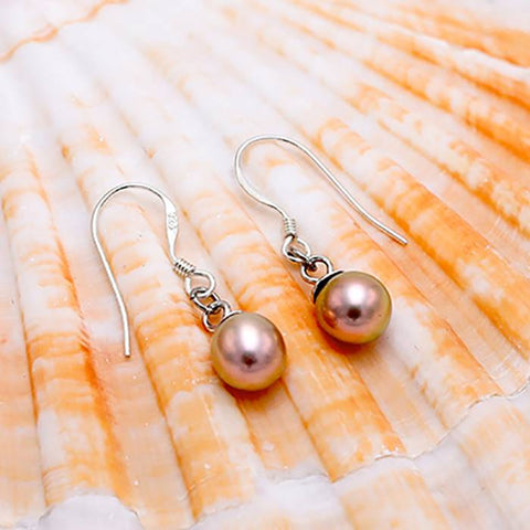 Sterling Silver Stunning Pearl Dangles