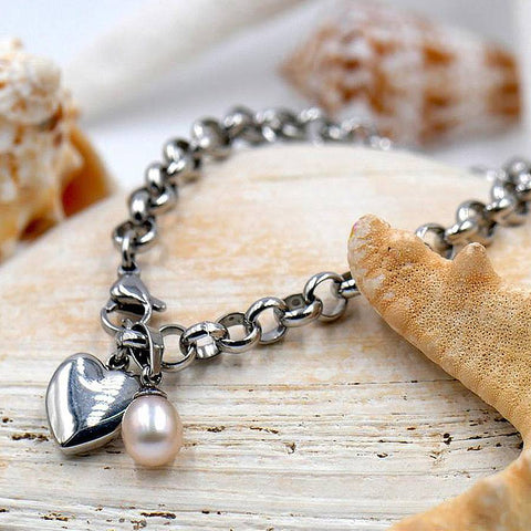 True Love Sterling Silver Charm Bracelet