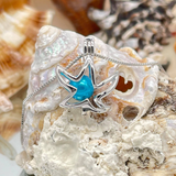 Sweet Starfish Sterling Silver Cage