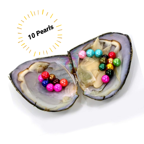 Mini Monster Oyster - 10 random round Freshwater Pearls