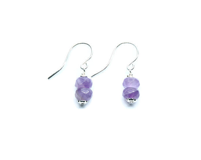 Amethyst Earrings - Woven Stone Co.