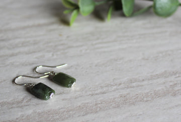 Earrings Limited Edition - BC Jade Rectangle