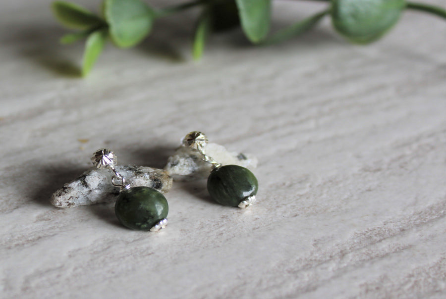 Earrings Limited Edition - BC Jade Round Studs