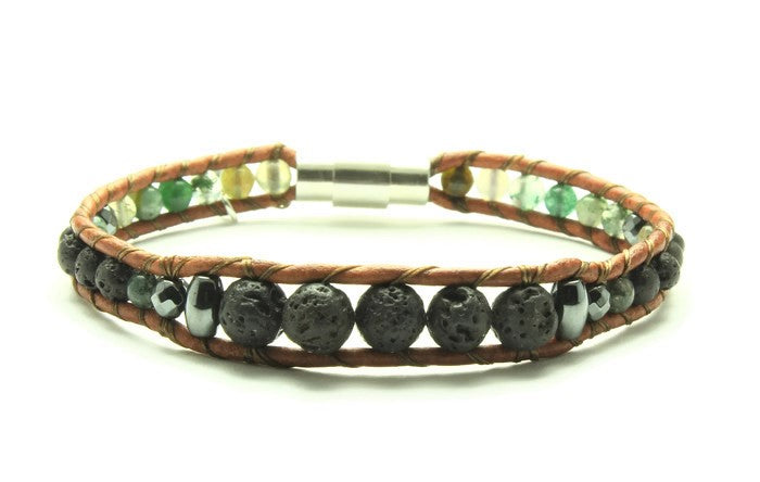 Fancy Jasper - Oil Diffuser Bracelet - Woven Stone Co.