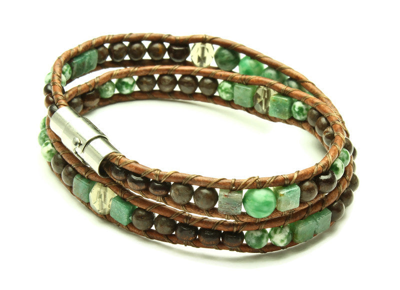 Jade Collection - Double Wrap Bracelet - Woven Stone Co.