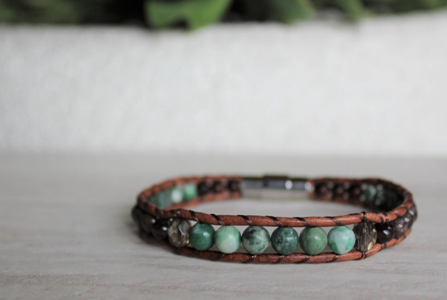 Jade Collection - Single Wrap Bracelet - Woven Stone Co.