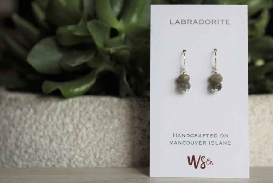 Labradorite Earrings - Woven Stone Co.
