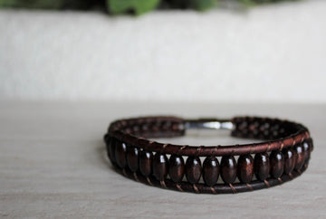 Mens Woodsman Bracelet - Woven Stone Co.