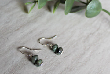 African Turquoise Earrings - Woven Stone Co.