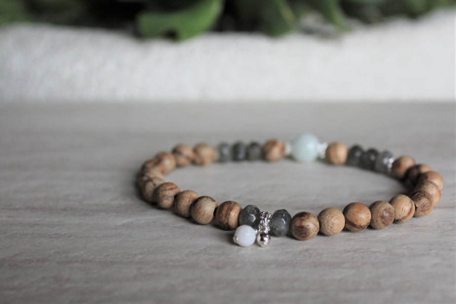 Wood Stacker - Labradorite + Peruvian Amazonite - Woven Stone Co.