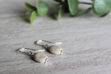 Earrings Limited Edition - Oval Riverstone