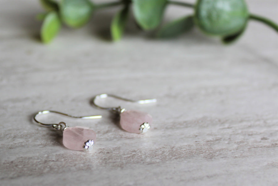 Earrings Limited Edition - Rose Quartz