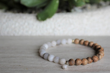 Matte Stacker - White Agate