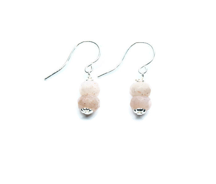 Sunstone Earrings - Woven Stone Co.