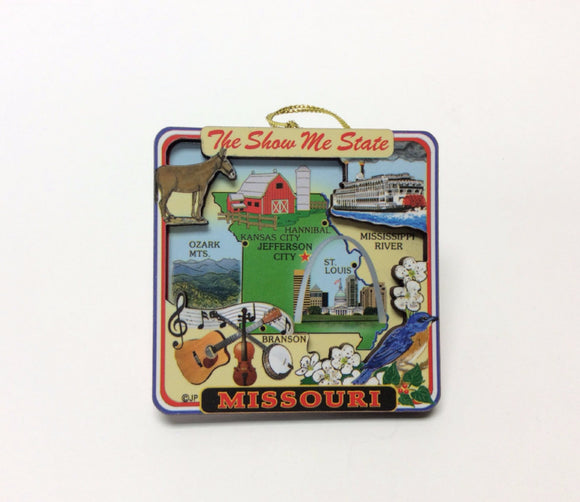Missouri Show Me State Ornament