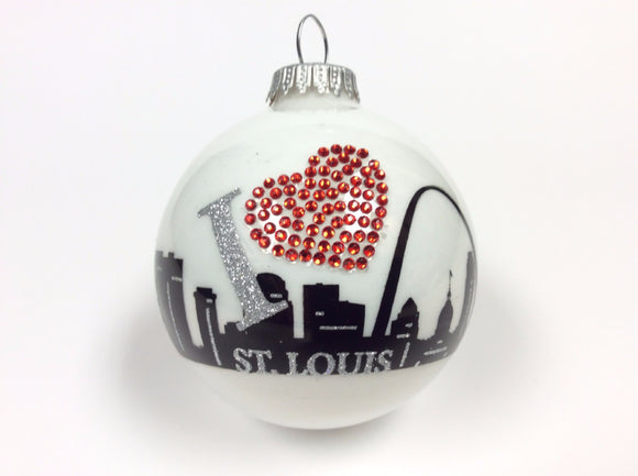I Heart St. Louis Skyline Ornament