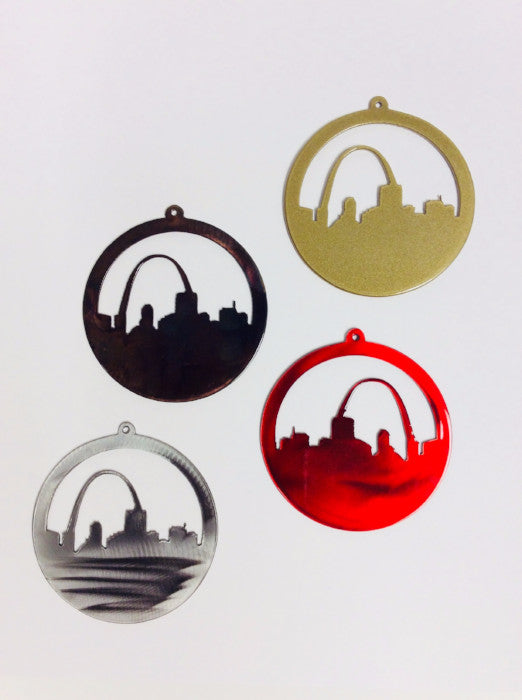 Steel Circle St. Louis Skyline Ornament