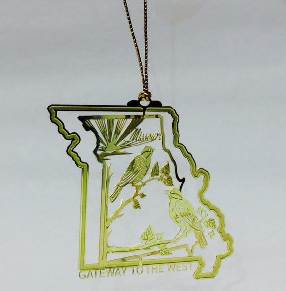 Missouri Gateway to the West Brass Ornament