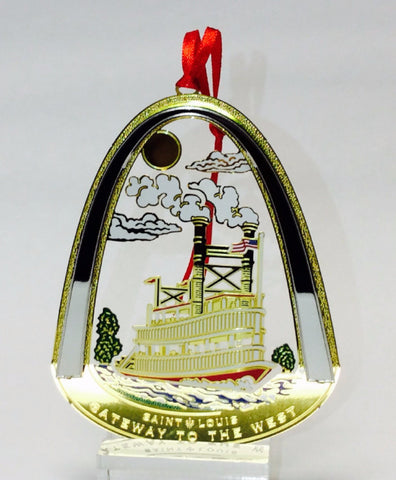 Lacquered Brass Gateway Arch Ornament-Riverboat