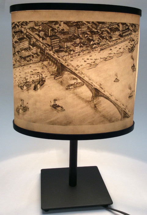 Archival Riverfront and Eads Bridge Lamp Plate 2
