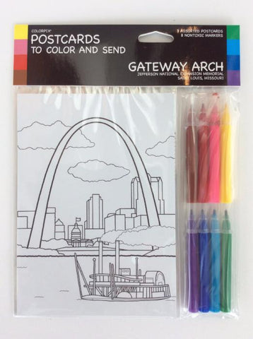 Postcards to Color and Send: Gateway Arch