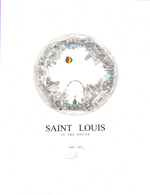 St. Louis In the Round Print by John Pils