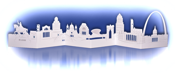 St. Louis Skyline Die-cut Card