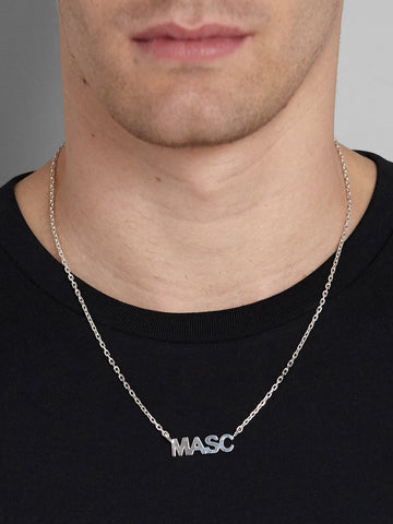 Silver MASC Necklace