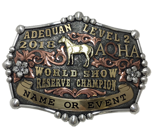 AQHA Level 2 World Show Champion Buckle (R)