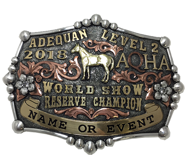 Adequan Level 2 World Show Champion Buckle
