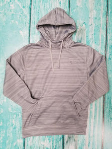 AQHA Quarry Gray Strip Fleece Hoodie